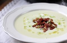 Potato and leek soup with bacon - so good ☆ ☆ ☆ from much blog - goggle translation on my site