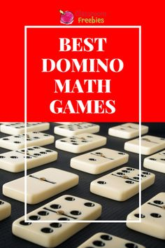 Need some new math games for teaching number sense in your elementary classroom? Use dominoes to teach these abstract concepts in a new way! Kindergarten Math Games, Math Games For Kids, Educational Games For Kids, Learning Games, Teaching Math, Maths, Teaching Ideas, Abc Games, Math Fractions