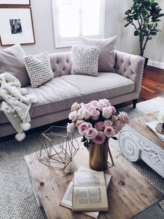blush grey Living room