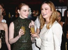 Emma Stone and Brie Larson from Oscars 2017: Party Pics  The 2017 Oscars Best Actress nominee and 2016 Oscars Best Actress winner party it up two nights before theaward show.