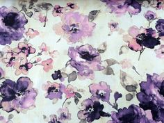 Roses are Purple Cotton Spun Fabric By The Yard Curtain Fabric Upholstery Fabric Curtain Panels Drapery Fabric Window Treatment Fabric Panel Curtains, Curtain Panels, How To Make Curtains, Purple Wine, Drapery Fabric, Spun Cotton, Cushion Covers, Window Treatments, Spinning