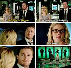 """""""You thought I was leaving too? Not a chance"""" - Felicity and Oliver #Arrow"""