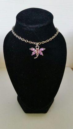 Dragonfly with pink rhinestones. AUS $ 6.00