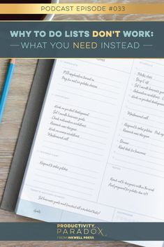 Listen to this podcast episode from inkWELL Press' Tonya Dalton on Why To-Do Lists Don't Work, and learn how to make The Priority List instead to start tackling your goals and boost your productivity! Planner Organization, Organizing, Inkwell Press, Priorities List, Erin Condren Life Planner, Time Management Tips, Personal Goals, Paradox, Starting A Business
