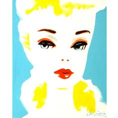 Vintage Barbie pop art. I'm such a product of the 50's.