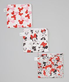 Loving this Disney Baby from Bumkins Disney Baby Minnie Mouse Large Reusable Snack Bag - Set of Three on #zulily! #zulilyfinds
