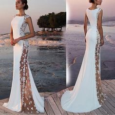 Women Formal Wedding Bridesmaid Evening Party Ball Prom Long Cocktail Dress Size S Long Prom Gowns, Prom Long, Sequin Dress, Lace Dress, Gown Dress, Bridal Dresses, Bridesmaid Dresses, Maxi Dresses, Formal Dresses