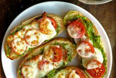 Bacon Avocado Tomato Toasts - #toast, #avocado, #recipe