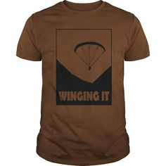 Cool Paragliding - Winging It Shirts