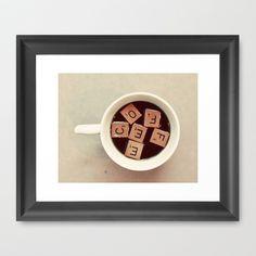 COFFEE Framed Art Print by Elle Moss - $35.00