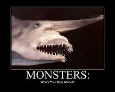 Monster Goblin Shark - You're welcome everyone who thinks  Sharks are cool. Stuff. Of. Nightmares.