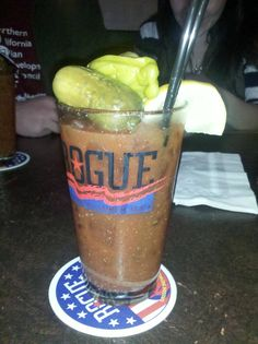 Bacon Bloody Mary at Rogue Brewery in San Francisco, Ca. Need this now!