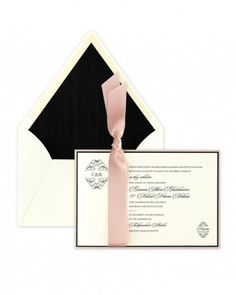 "See the ""Black-and-Pink Invitation"" in our  gallery"