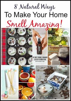 8 Natural Ways To Make Your Home Smell Amazing! You don't need to buy expensive (and often over powering) spray air fresheners or scented plug-ins to have your home smell nice. DIY air fresheners