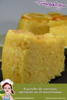 Bizcocho de naranja esponjoso en el microondas -- Se hace en un momento y esta riquisimo #receta #bizcocho #microondas