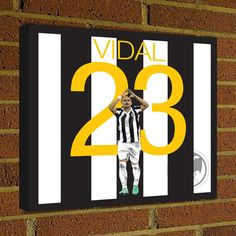 Square Canvas Wrap Soccer Art Print Arturo Vidal Juventus Soccer Poster wall decor home decor, Vidal print, Juventus poster by Graphics17 on Etsy