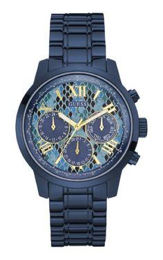 92521LPGSEA8 Relógio Feminino IP Blue Guess