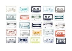 Cassettes of Colour by Hanna Melin from A little bit of Art (£30)