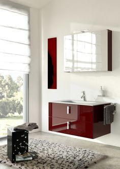 Flash - Punto Tre  #mobili #riccelli #mobiliriccelli #collection #bagno #bathroom #furniture #design #interior #moderndesign #home #indoor #puntotre #arredamento #casa #arredo #red #white #modern