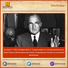 #OnThisDay 1950 Truman orders U.S. forces to Korea #History #USA #Korea #War