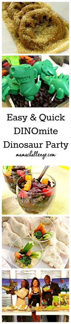 Planning a ROARING party? Here are quick, easy & cheap Dinomite Dinosaur Party Ideas from MamaChallenge.com featured on Eyeopener TV! [spon]