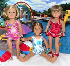american girl doll bathing and beach suits