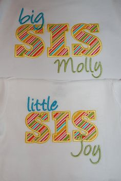 Custom Personalized Big Sister Little Sister by forthelittlepeeps, $36.00