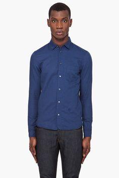 #DIESEL Navy Sjudah #shirt #menswear #clothing @SSense $160.00