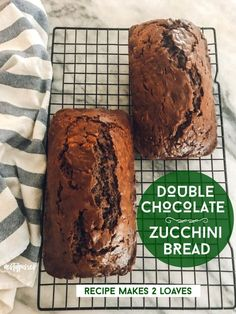 This Decadent Chocolate Zucchini Bread is so moist and has the perfect blend of cocoa and coffee mixed in to make this decadently delicious. Chocolate Zucchini Bread, Zucchini Bread Recipes, Parmesan Recipes, Banana Bread, No Bake Desserts, Delicious Desserts, Dessert Recipes, Dinner Recipes, Cocoa Cinnamon