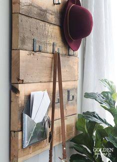 rustic modern DIY coat rack #coatracksmodern