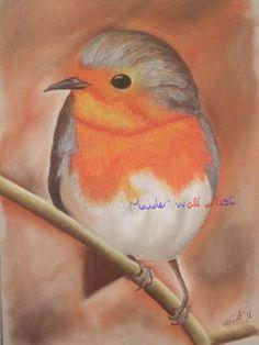 """Gorrión"" Pastel sobre papel. A3. 2011 #art #artist #animals #dibujo #gorrion #arte #painting #bird #ave #pajaro"