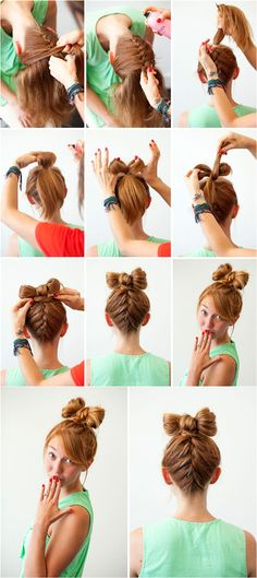 top braid hair bow tutorial