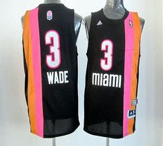 Heat  3 Dwyane Wade Black ABA Hardwood Classic Stitched NBA Jersey ccde690d7