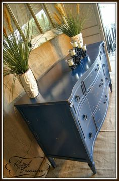 French Provincial Dresser - (Before and After)