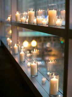 fensterbank deko kerzen windlichter romantik modern wohnung