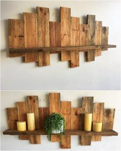 Your wall of the house will always look incredible when you .-Ihre Wand des Hauses wird immer unglaublich aussehen, wenn es f … – Holz DIY Ideen Your wall of the house will always look incredible when it … - Wooden Pallet Shelves, Pallet Wall Decor, Wooden Pallets, Wooden Diy, Pallet Decorations, 1001 Pallets, Old Wood Projects, Wooden Pallet Projects, Diy Pallet Furniture