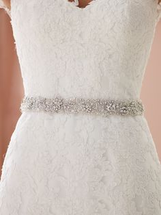 Hand-beaded illusion belt, sold separately. Sizes: XS – XXL