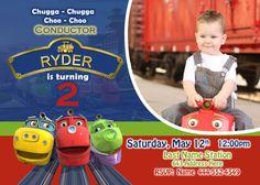 Chuggington Invite Chuggington invitation by JRCreativeDesigns, $17.99