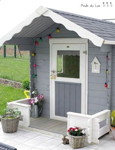 Shed Ideas - maisonnette bois chez Poule du Lux: magnifique! Now You Can Build ANY Shed In A Weekend Even If You've Zero Woodworking Experience!
