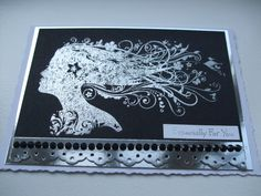 Silver embossed Juliet from Indigo Blu Stamps