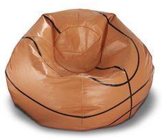Vinyl Basketball Ball Bean Bag Chair For Bruce's room