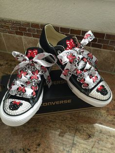 Adult size mouse bling converse by SIMPLYFROSTED on Etsy Mickey Mouse Shoes c918ab7e8