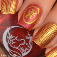 "2,596 likerklikk, 24 kommentarer – 1-Stop Affordable Nail Shop!💅🏼 (@twinkled_t) på Instagram: ""Harry Potter inspired nails using ✨So Extra✨Clearly @housewifenails is #teamgryffindor! Comment…"""