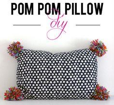 the HUNTED INTERIOR: Pom Pom Pillow | beyond easy