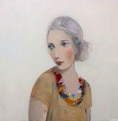 "Kristin Vestgard, ""Closer"", oil 70 x 70cm, £2950. Has now SOLD. http://www.cornwallcontemporary.com/exhibition/kristin-vestgard/"