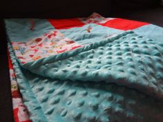Patchwork Minky Blanket   An easy tutorial for non-quilters