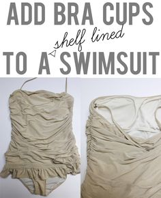see kate sew: add bra cups to a shelf lined swimsuit