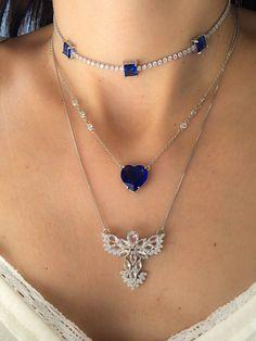Compre Colar tiffany zirconias com coração azul safira rodio semijoia na Waufen ✓ Semjoias Finas ✓ Ótimos Preços ✓ Entrega Rápida e Segura ✓ Pgto em até 12 Vezes