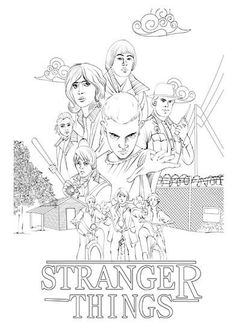 Free Stranger Things coloring pages Eleven Stranger