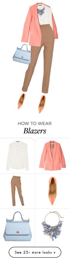 """""""Untitled #1607"""" by hleyliy on Polyvore featuring See by Chloé, Christian Louboutin, Balmain, Chico's, Hermès, Dolce&Gabbana, women's clothing, women, female and woman"""